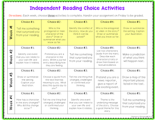 independent choice reading activities