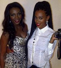 Genevieve Nnaji Spotted Together With Solange Knowles. 1
