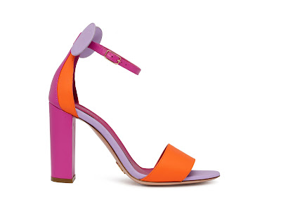 Oscar Tiye Spring Summer 2016 Minnie Sandal Block Heel Color Block