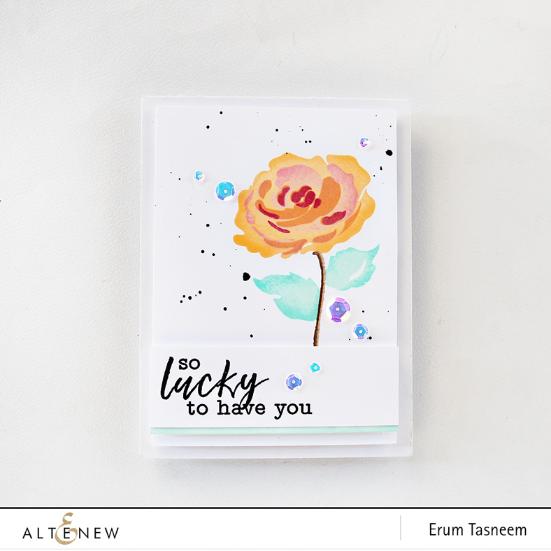Altenew Story of Us Stamp Set | Erum Tasneem | @pr0digy0
