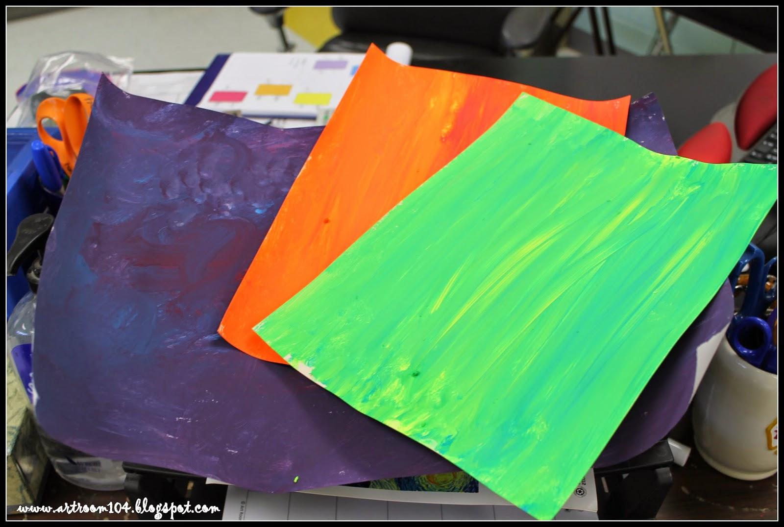 Art Room 104 1st Grade Crazy Pumpkins Part 1