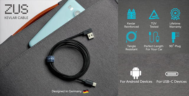 ZUS Kevlar USB cable might just be the last ever cable you'll need?