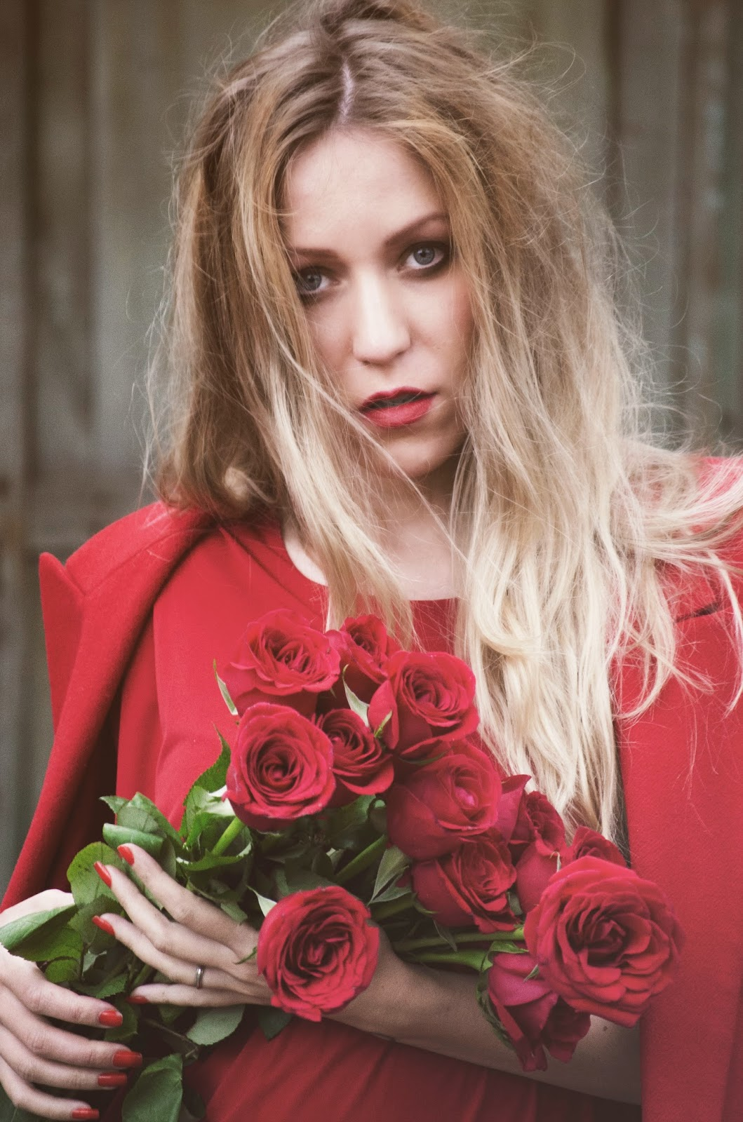 Total look rojo vestido