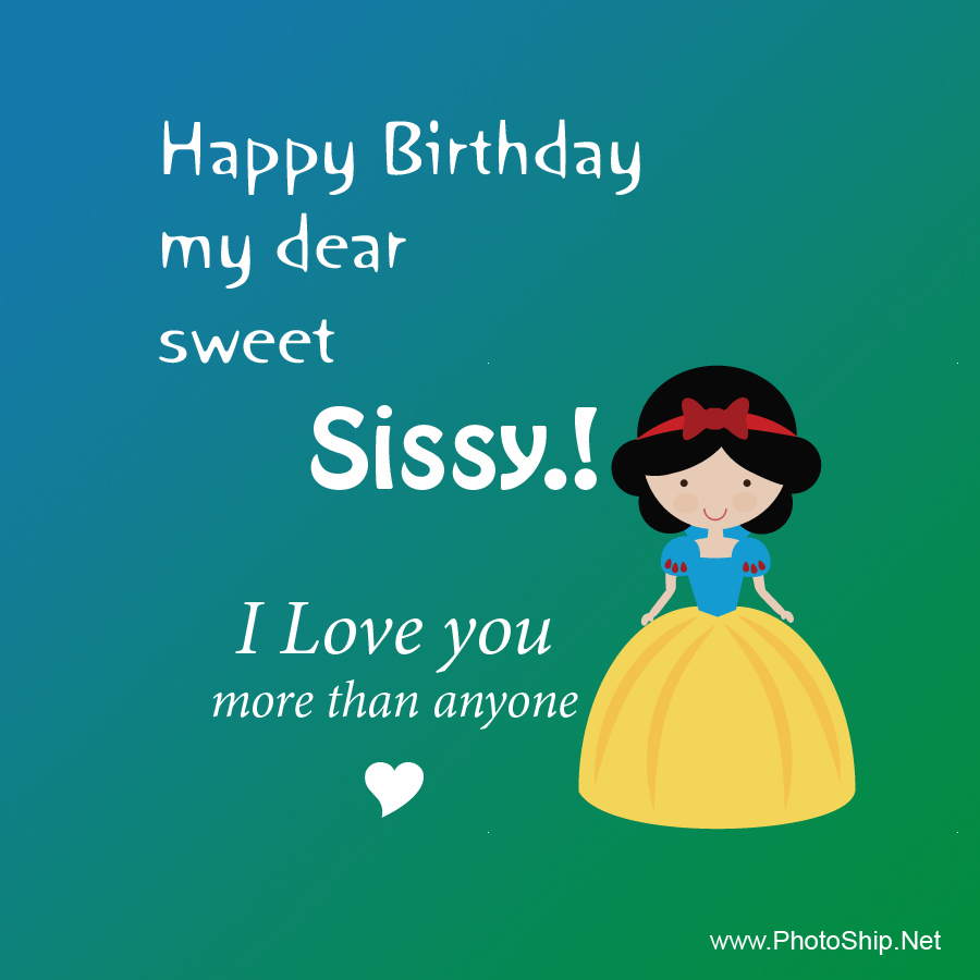Very Happy Birthday Sweet Sister👫👭