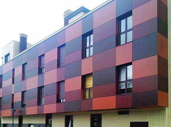 Fachada ventilada terra antiqva 976 46 30 90 gres y for Ceramica para fachadas exteriores