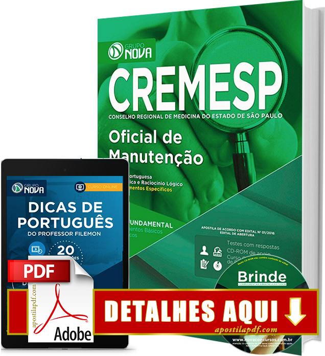 Apostila CREMESP 2016 Oficial de Manutenção Impressa