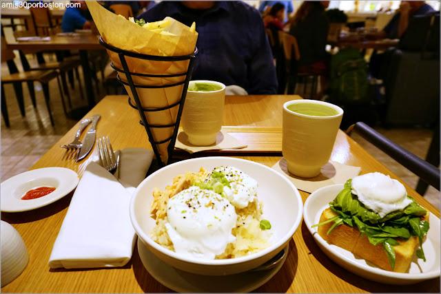 Almuerzo en Samovar Tea Lounge en el Aeropuerto de San Francisco