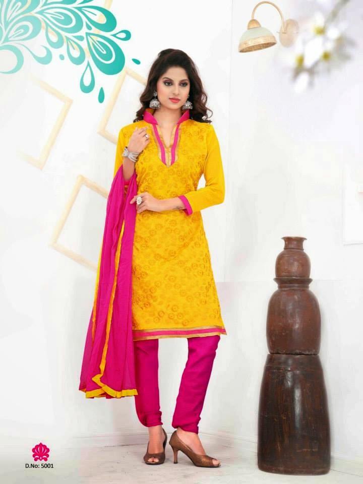 Office Wear Trendy Suits 2015 For Indian Girls By Dhavani Wfwomen