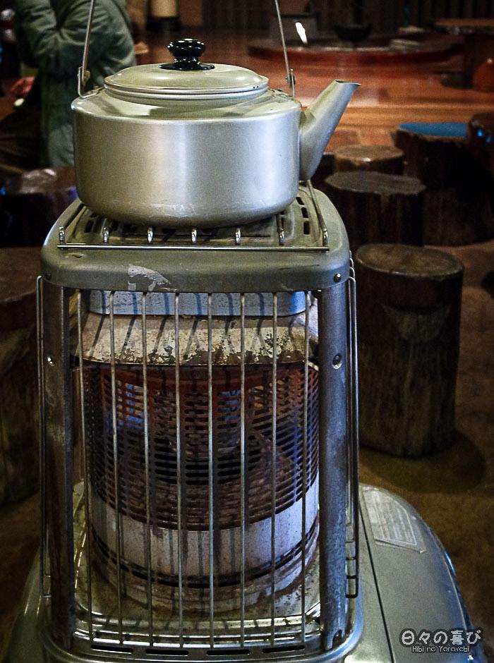 bouilloire et chauffage ancien, amazake-chaya, hakone
