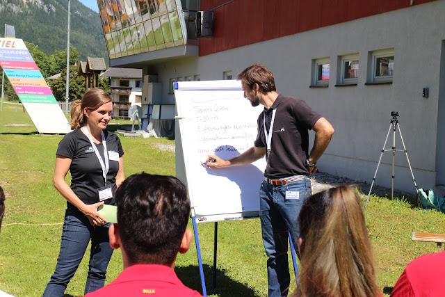 Conout Österreich und REWE Karriereschmiede 2016 Steiermark Ramsau Teambuilding