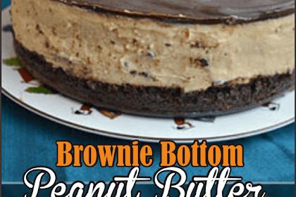 Brownie Bottom Peanut Butter Oreo Cheesecake