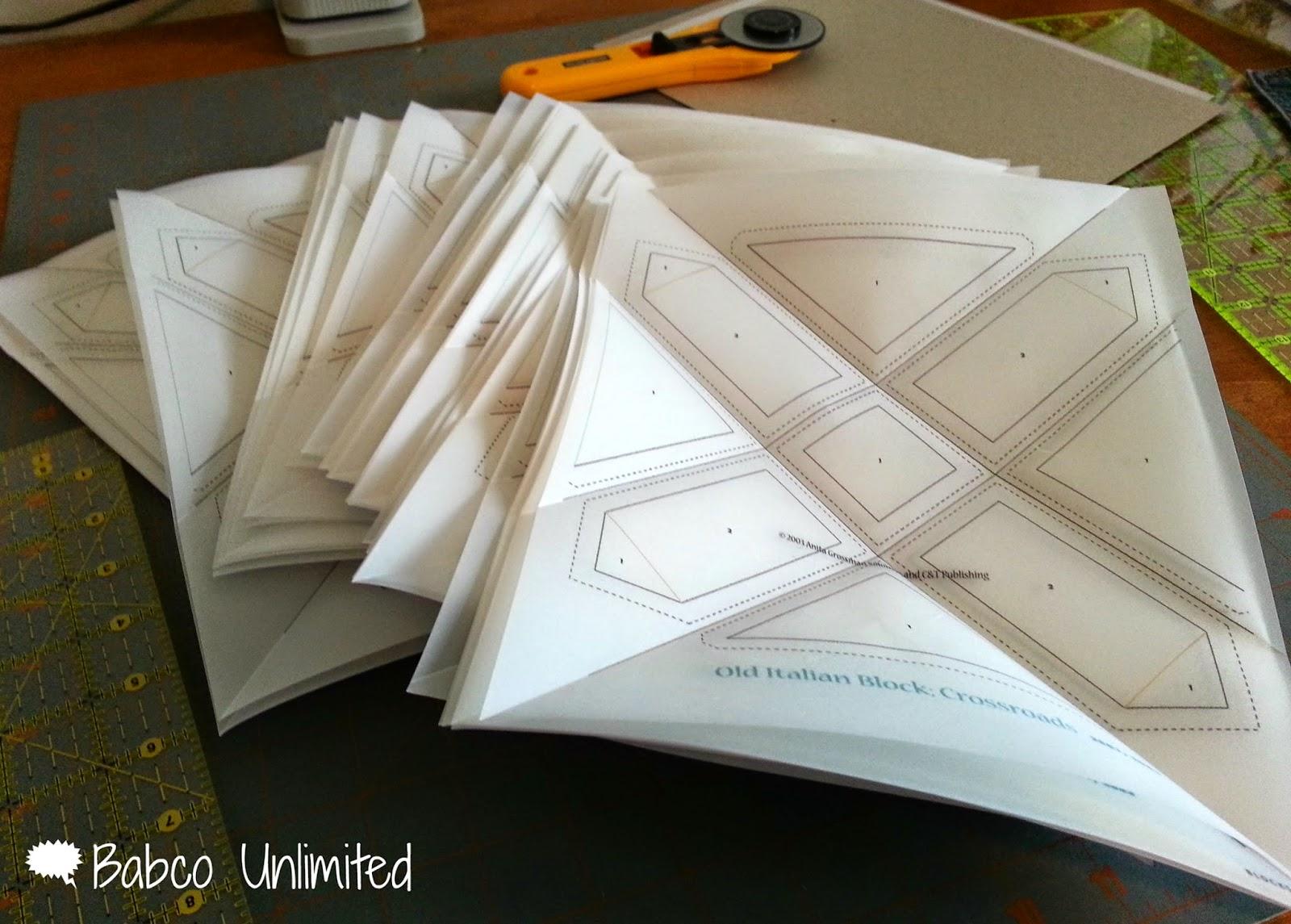 BabcoUnlimited.blogspot.com - Old Italian Quilt Vellum Paper