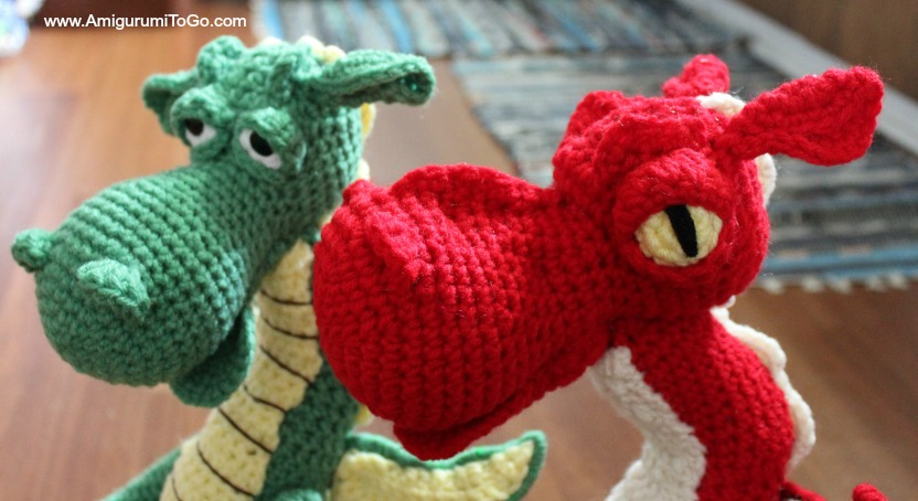 Crochet Patterns Dragon : They Have Faces and Fire! ~ Amigurumi To Go