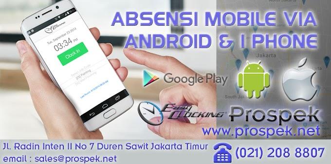 Absensi Mobile Menggunakan Smartphone Android dan Iphone (IOS)