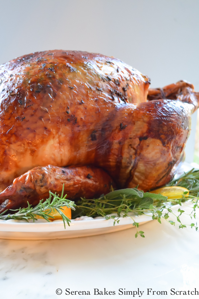 Top 10 Recipes of 2016 Super Juicy Turkey on serenabakessimplyfromscratch.com