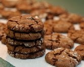 Chocolate Ginger Crinkle Cookies
