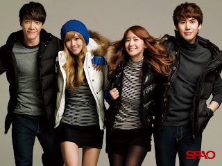 Sunny and Yoona with boyfriends