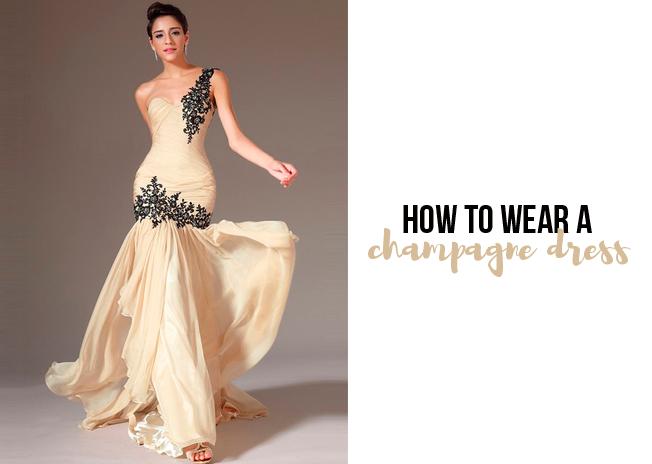Urbanika Moda Cómo Combinar Un Vestido Champán