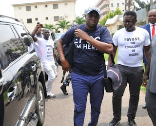 Fayose Arrives Lagos Federal High Court