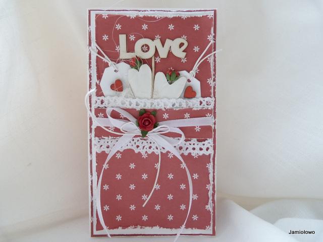romantyczna kartka na walentynki