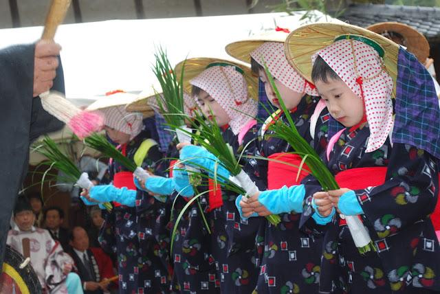 Otaue-matsuri (Rice Planting Ritual) at Morotayama Shrine, Kunisaki City, Oita Pref.