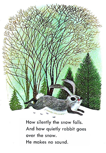 Art Seiden illustration of a quiet rabbit