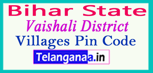 Vaishali Pin Codes in Bihar State