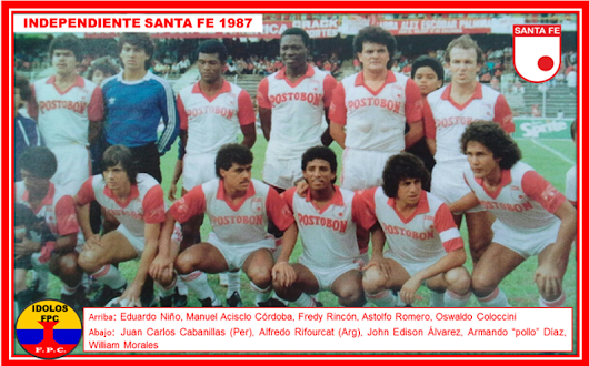 INDEPENDIENTE SANTA FE 1987. 3°