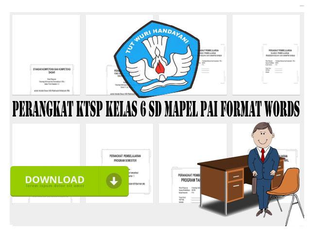 Perangkat KTSP Kelas 6 SD Mapel PAI Format Words