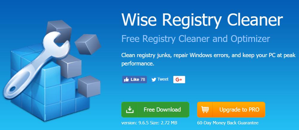 Bản quyền miễn phí Wise Registry Cleaner Pro - Phần mềm dọn dẹp registry