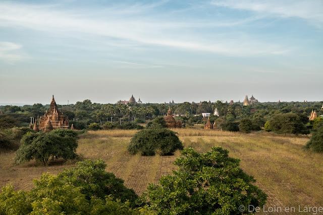 Vue du Nagayon temple - Bagan - Myanmar - Birmanie