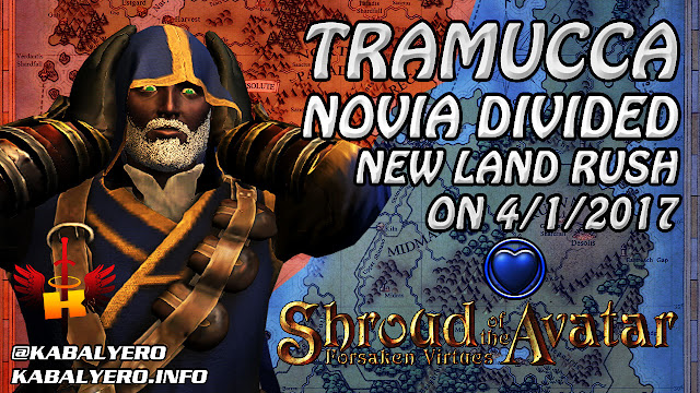 TRAMUCCA, Novia Divided, New Land Rush On 4/1/2017 😂 Shroud Of The Avatar News