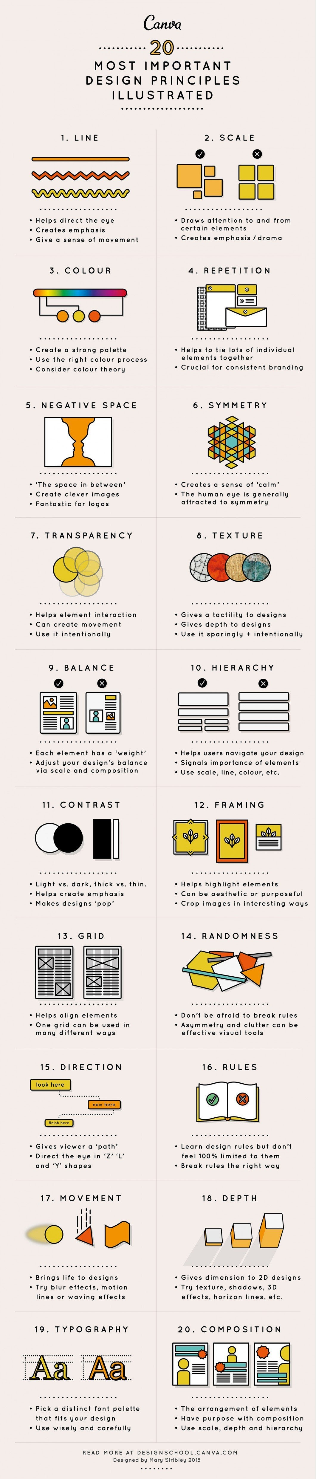Design Elements & Principles - #infographic