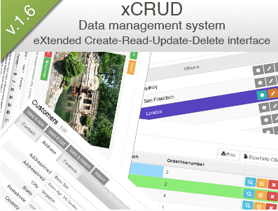 PHP Source Data Management System xcrud-v1.6.20