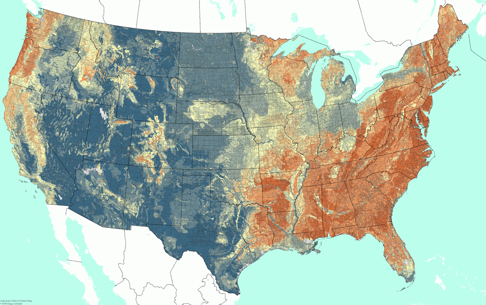 Soil pH Map Of The United States
