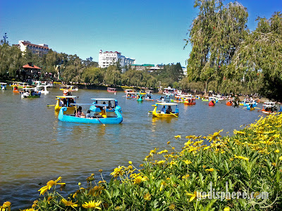 Burnham Park Baguio City Boats on Lagoon