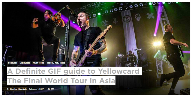 A Definite GIF guide to Yellowcard The Final World Tour in Asia