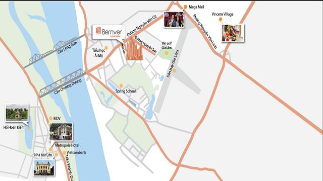 Vị trí dự án Premier Berriver Long Biên