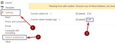 Custom Robots Header Tag