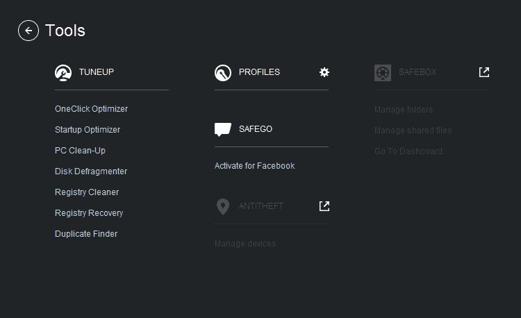 Bitdefender Internet Security 2015 Tools
