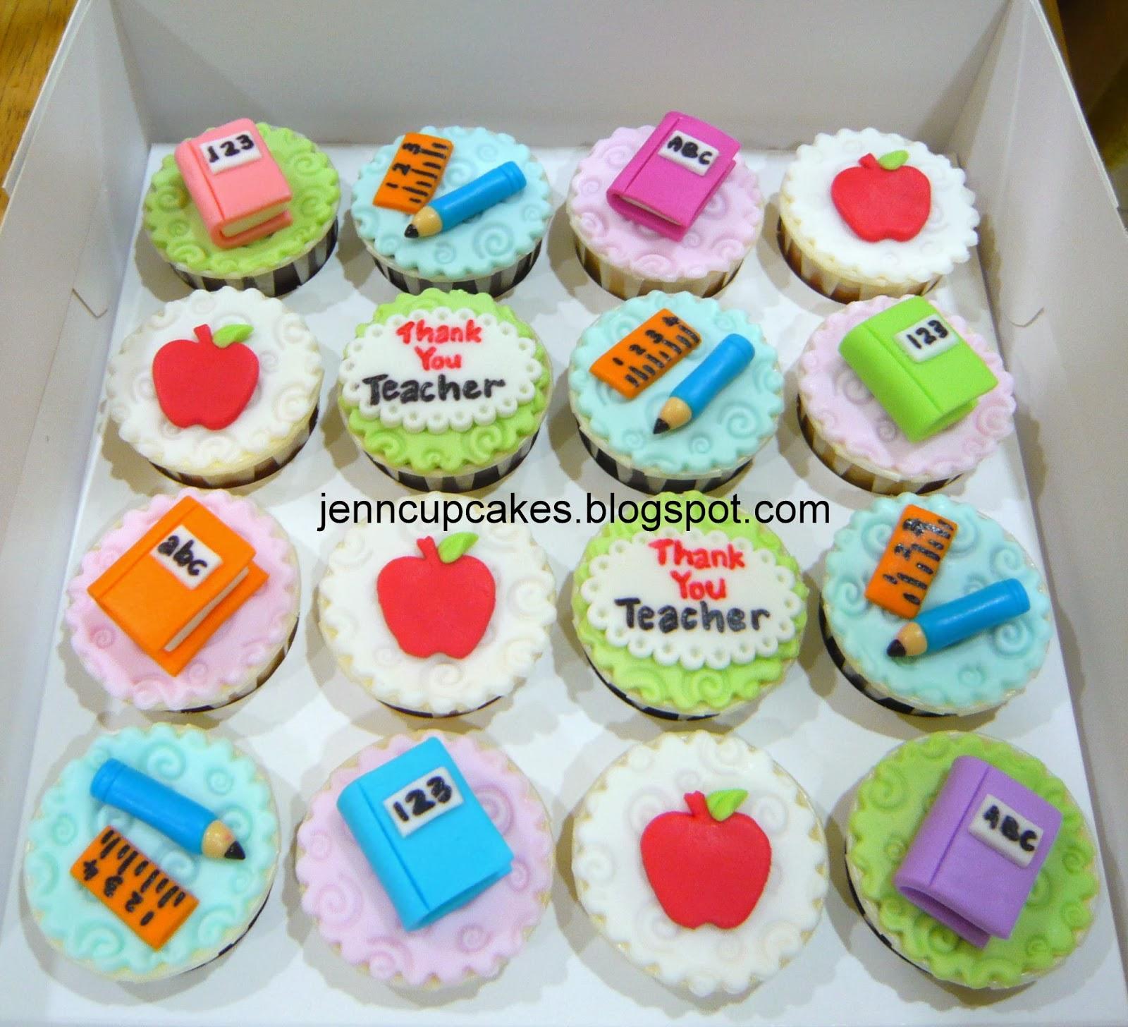 Jenn Cupcakes Amp Muffins Thank You Teacher Cupcakes