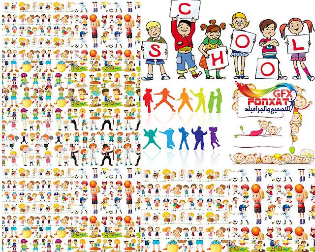 صور وتصميمات كرتون فيكتور اطفال عدد كبير جدا