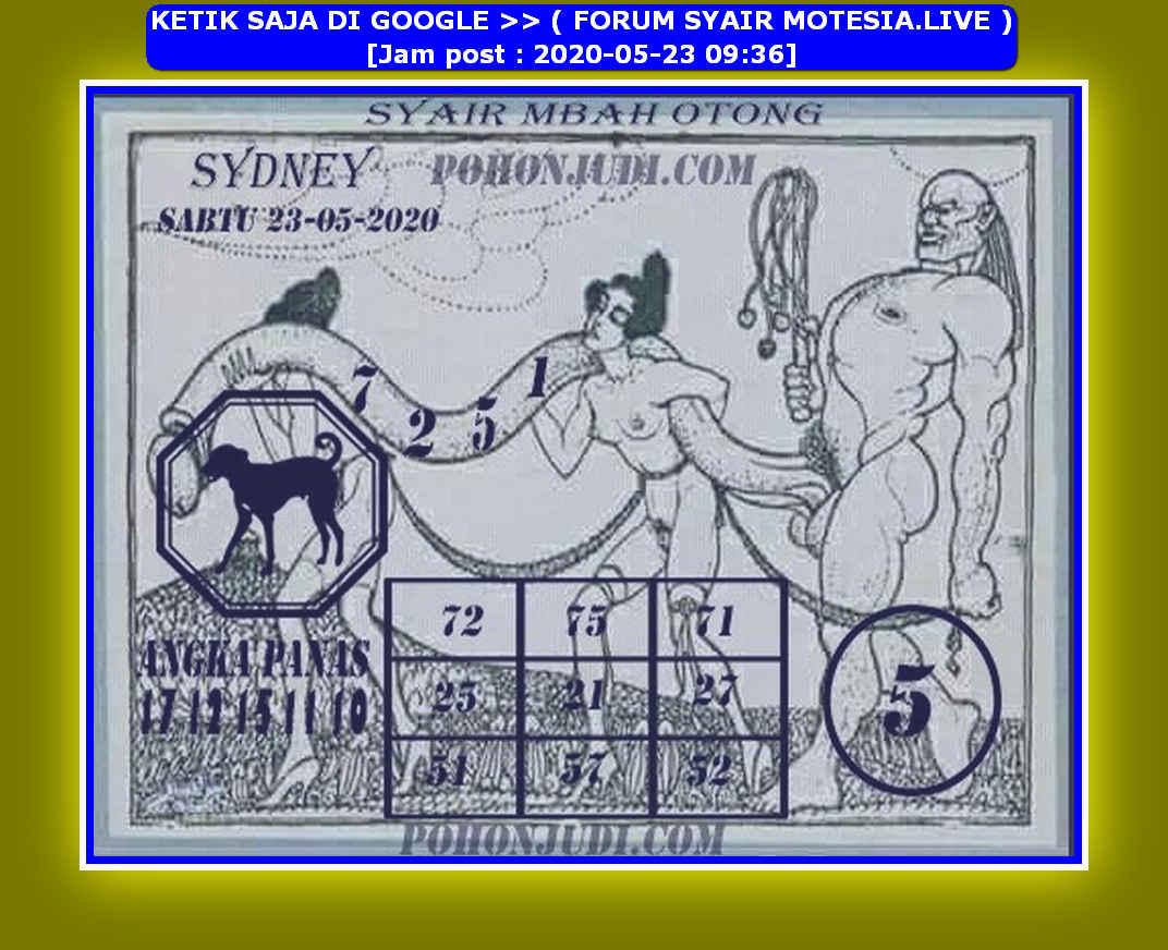Kode syair Sydney Sabtu 23 Mei 2020 139