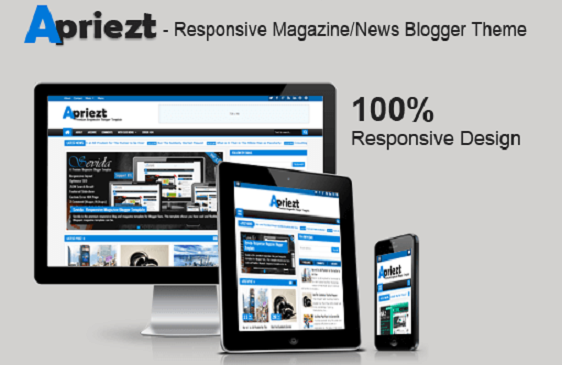 Apriezt Responsive Template – Cool Blogger Theme