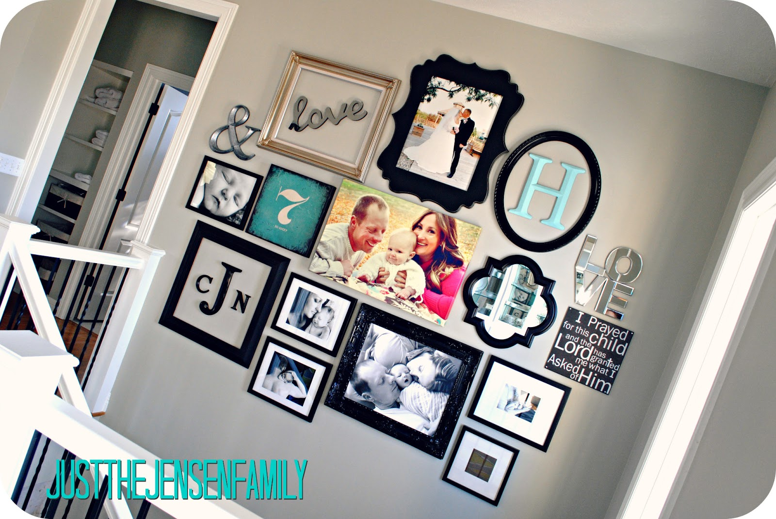 Just the Jensen Family: DIY Gallery Wall
