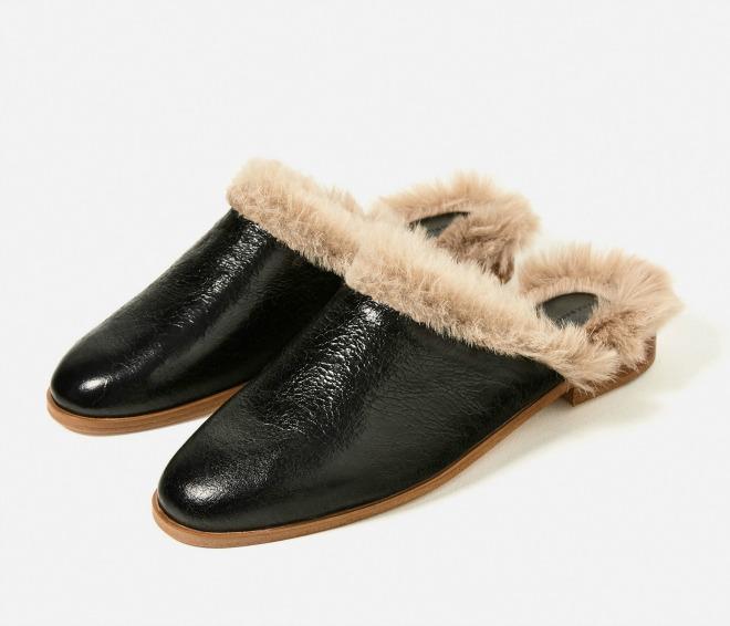 zapatos con pelo Zara destalonados