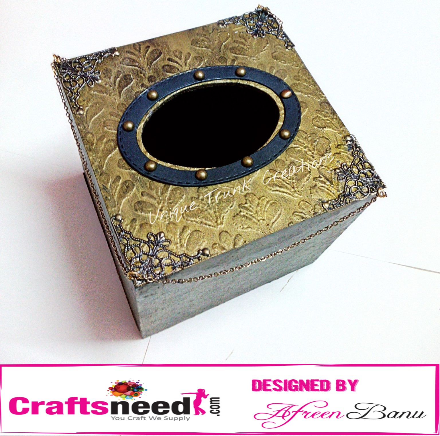 Crafts supply online shop in india buy arts crafts online step 6 to add some beauty to the box i added oval stitched die cut embellished with brads adhered it to the center of the box fandeluxe Image collections