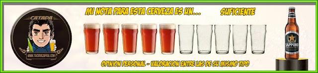 Valoración Cerveza SAPPORO Premium Beer