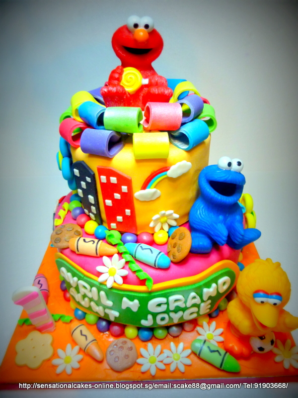 The Sensational Cakes Sesame Street 3d Cake Singapore