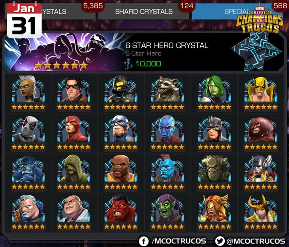 Mcoc Champion List Related Keywords & Suggestions - Mcoc